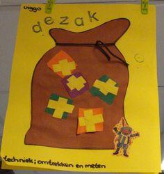 de zak met cadeautjes Saint Nicholas, Crafts For Kids, Saints, Xmas, School, Winter, Character, Crafts For Children, Winter Time