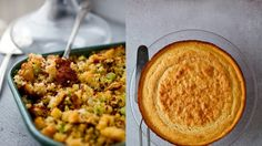 This cornbread is grainy and savory, not sweet, and it makes an ideal stuffing.