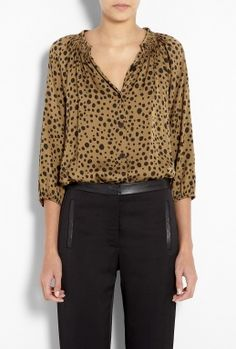 River Bank Brown The Classic Blouse by Tucker