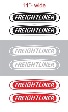 "2pcs 11"" FREIGHTLINER Vinyl Sticker Decal Graphic COLUMBIA CASCADIA SEMI TRUCK #Oracal"