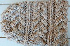 Patrón para tejer un Cuello y un Gorro con trenzas en dos agujas