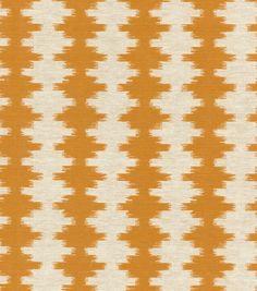 Upholstery Fabric- Waverly Brush Work/Mandarin, , hi-res