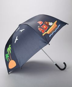 Take a look at this Navy Pirate Umbrella by Playshoes on #zulily today!