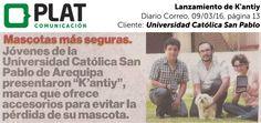 Universidad Católica San Pablo: Lanzamiento de K'antiy en el diario Correo de Perú (09/03/16)
