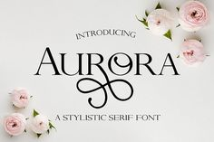 Aurora - A Stylistic serif font #handwriting #handwritten #handlettered #handlettering #fontduo #uppercase #svg #script #typography #logofont