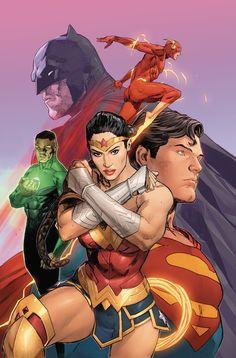 Justice League Art by Clay Mann Arte Dc Comics, Dc Comics Superheroes, Dc Comics Characters, Dc Comics Poster, Comic Books Art, Comic Art, Book Art, Univers Dc, Art Anime