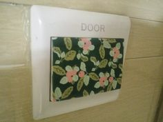 New year, new office decoration. A door covered with spider webs, decorate the switch with a flower. www.manzawa.com #washitape #DIY