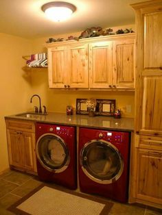 From Renee, I love this idea!  I wanna do this to our laundry room make-or-break this spring!!