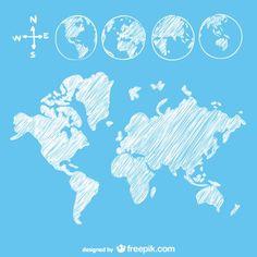 Sketch Globe Map