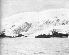Second Battle of Narvik, 13 April 1940 - Warspite and British Destroyers withdraw Narvik, Tromso, North Africa, World War Two, Historical Photos, Ww2, Norway, Battle, Europe
