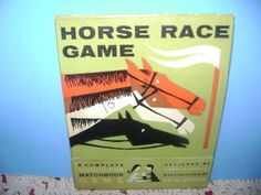 Vintage Matchless Matchbook Game Horse Race by SevenSistersBooks