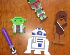 Star Wars Magnets, R2D2, Yoda, Lightsaber, Chewbacca, & Boba Fett !