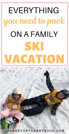 Ski Packing List: Must Have Kids Ski Gear for Cold Weather. What to Pack and bring for a Successful Ski or Snowboard Trip For Your Family Kids Ski Gear, Kids Skis, Family Ski, Family Travel, Go Skiing, Ski Vacation, Travel With Kids, Workouts