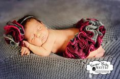 KNIT PATTERN - Rows of Ruffles Tutu , Newborn Tutu, Ruffled Tutu, Hand Knit Tutu Pattern, Girl, Newborn Photography Prop,