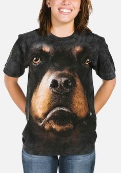 Rottweiler Face T-Shirt Modeled Pet Clothes 2131449e522e