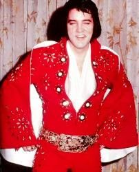 The 1972  Classic Burning Love   suit also known as Red Matador. Elvis was   said not to have liked it too much though he did   wear it several times and certainly didnt mind   showing it off in his hotel room