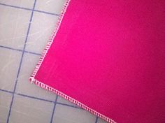 How to stitch a rolled hem on a serger