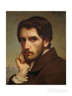 Portrait of the Artist, 1855 Giclée-Druck von Léon Bonnat bei AllPosters.de