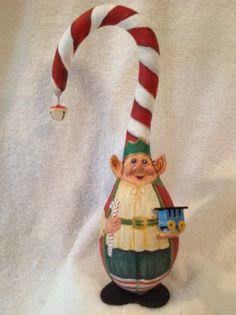Handpainted Gourd -Santa's Elf