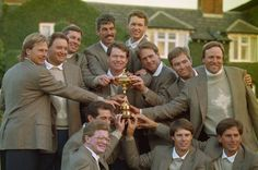 Tom Watson (middle, center) to be 2014 U.S. Ryder Cup captain, reports Yahoo! Sports. He captained the last U.S. squad to win on European soil, in 1993.
