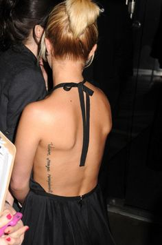 Like the placement... actually an error in the saying of this tattoo, but love the placement
