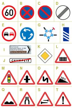 Margaret Calvert designed signs, symbols, and type for the British road system in 1963 with Jock Kinneir Traffic Signs And Symbols, British Road Signs, Abram Games, Sign Fonts, Graphic Design Projects, Design Museum, Pictogram, Sign Design, Card Templates