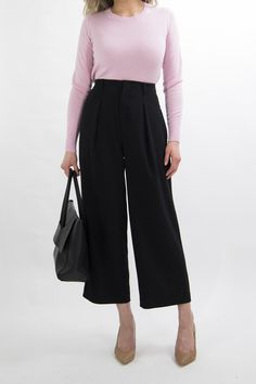 Culottes Outfit Work Office Wear for Women: 1 MONTH OF BUSINESS CASUAL OUTFIT IDEAS Pt. 2 MISS LOUIE