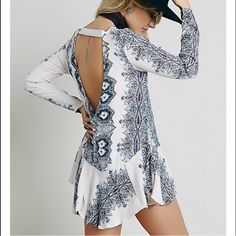 !!On Hold!!Free people dress open back! Worn once. Free People Dresses Long Sleeve