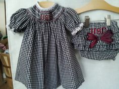 Hand Smocked USC Gamecock Baby Bishop Dress and by TheBeeGarden, $70.00