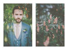 In the bush // Pimhill Barn Wedding // Groom