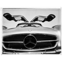 Gullwing Mercedes-benz Photograph By Charles Baker (19.225 DKK) ❤ liked on Polyvore featuring home, home decor, wall art, grey, photography, handmade home decor, grey wall art, ny wall art, new york wall art and new york home decor