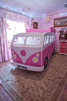 VW Camper Van Theme Bed by Fun Furniture Collection, Home of Themed Childrens Beds,Toy Boxes and Storage. Bed For Girls Room, Little Girl Rooms, Girls Bedroom, 4 Year Old Girl Bedroom, Childs Bedroom, Kid Bedrooms, Child Room, Room Kids, Kids Rooms