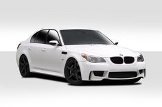 2004-2010 BMW 5 Series 4DR E60 E61 Duraflex 1M Look Body Kit - 4 Piece - Includes 1M Look Front Bumper Cover (109300) M5 Look Side Skirt Rocker Panels (104422) M5 Look Rear Bumper Cover (104421)