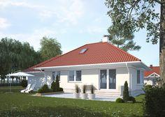LK&1179 projekt domu parterowego z poddaszem użytkowym, o powierzchni użytkowej 75,38m2 spełniajacy warunki programu Mieszkanie dla Młodych #mdm #lkprojekt