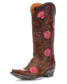 If I could somehow be sure these would fit my wide calf, I would save up for these! $550 Old Gringo Women's Julie 4L Toe Boot - Brass