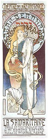 Sarah Bernhardt in La Samaritaine. Alphonse Mucha. 1897