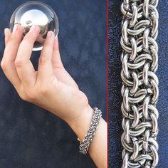 Vipera Berus (Basketweave) chainmaille bracelet - Find tutorial!