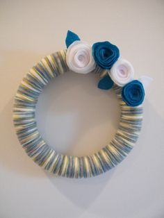 Google Image Result for http://adesignstory.com/wp-content/uploads/2010/12/Yarn-Wreath.jpg