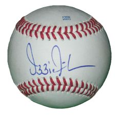 Atlanta Braves Ozzie Guillen signed Rawlings ROLB leather Baseball w/ proof photo.  Proof photo of Ozzie signing will be included with your purchase along with a COA issued from Southwestconnection-Memorabilia, guaranteeing the item to pass authentication services from PSA/DNA or JSA. Free USPS shipping. www.AutographedwithProof.com is your one stop for autographed collectibles from Atlanta sports teams. Check back with us often, as we are always obtaining new items.