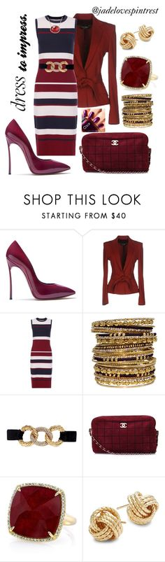 """""""Dress to impress."""" by jadelovespintrest ❤ liked on Polyvore featuring Casadei, Dolce&Gabbana, Hobbs, Erickson Beamon, Chanel, Anne Sisteron and Saks Fifth Avenue"""