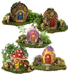 Fairy Village Collection Special. Pin to win! Enter for your chance to win a $250 gift card at http://sweeps.piqora.com/magiccabinsummerimaginationsweepstakes Sweepstakes ends 5/20/14.