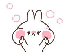 Cute Couple Cartoon, Cute Cartoon Pictures, Cute Love Cartoons, Cute Images, Cute Bunny Gif, Cute Love Gif, Cute Little Drawings, Cute Drawings, Neko Atsume Wallpaper
