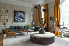 Jewel-Toned Living Room  - ELLEDecor.com