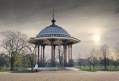 Clapham Common Bandstand © English Heritage/Survey of London Clapham Common, English Heritage, Local Parks, Public Garden, London Life, Places Ive Been, Gazebo, Taj Mahal, Castle