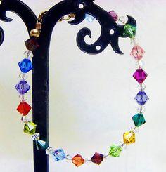 Rainbow Crystal Chakra Bracelet Black Lotus TM | eBay Hand Crafted for Meditation and Balance $17.50 http://www.ebay.com/itm/Betsey-Johnson-Crystal-Peace-Flowers-Pendant-w-lnlaid-Pearls-US-Seller-/271215893856?pt=Fashion_Jewelry=item3f25ba1d60