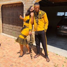 Couples African Outfits, African Dresses For Women, African Print Dresses, African Fashion Dresses, African Prints, Fashion Outfits, Pedi Traditional Attire, Traditional Fashion, Traditional Outfits