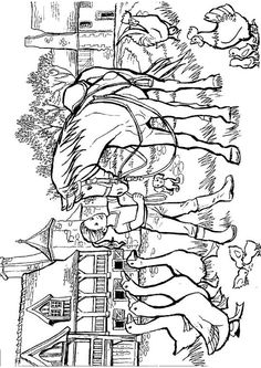 coloring page Horses - Horses