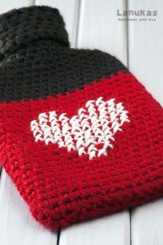 Lanukas: Funda para bolsa de agua caliente a crochet