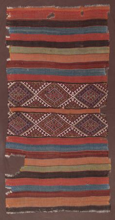 Anatolian flatweave kilim (Grain Sack), Turkey, mid 19th c.