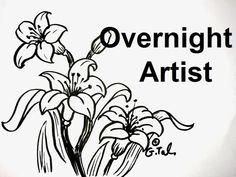 getlinkyoutube.com-3 Lily Flower Drawings Easy Step By Step